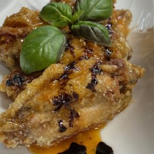 Куриные крылья в медовом соусе
